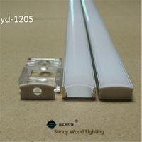 Spedizione gratuita10Set / lot Profilo di alluminio LED / lotto 1M per la luce della barra LED, canale di alluminio della striscia del LED, alloggiamento impermeabile alluminio YD-1205