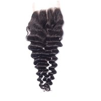 Unprocessed Virgin Brazilian Lace Closure Deep Wave, 4x4 swi...