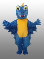 vente chaude de haute qualité bleu de ptérosaure dinosaures costume de mascotte design personnalisé mascotte fantaisie carnaval costume livraison gratuite