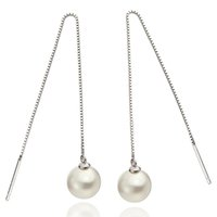 925 sterling silver jewelry free shipping simple pearl ball ...
