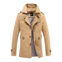 Spadek Długi płaszcz Mężczyźni 2016 Płaszcz Zimowy Mężczyźni Klasyczne Gothic Solid Coats Men Windbreaker Znosić Black Trench Kurtki 5xl 5793