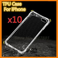 Anti Choque Knock TPU Macio Caso Proteger Câmera pele Capa Crystal Clear Transparente Silicon Shell Para iphone 6 6 s plus 7 5S 5 se
