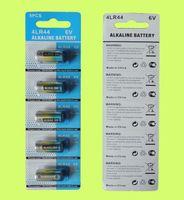 1000CARDS (5000 adet) 476A 4LR44 28A A544 L1325 6 V Alkalin Hücre Pilleri 5 adet / Blister Kart