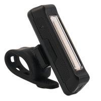100LM LED COB USB Rechargeable de la batterie de la batterie de la batterie de vélo de vélo de vélo de vélo de la queue de sécurité sur le guidon