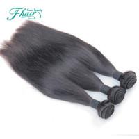 2016 prodotti caldi 100% non trasformati 7a visone brasiliano dritto 3 bundle lotto prodotti per capelli moka brasiliano capelli lisci umani
