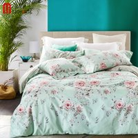 polyester cotton printed home elegant floral bedding set cotton bed linen sets american style bedspreads twin size duvet cover sheet sets 4 pcs free