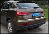 Высокое качество 304 # нержавеющая сталь сзади автомобиля багажник потертости подножку, защитная пластина, задняя наклейка багажник для Audi Q3 2012-2015