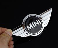 10 unids / lote Mini Cooper Logo Pegatinas de coche 3D Emblemas de metal para Mini Coche Frontal Insignia Logotipo con pegatina 3M para cartones de automóviles Emblema Decoración