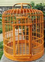 Бесплатная доставка Bamboo Birdcage Starling Heath Cale Health Birds Cale 32 см для отправки полного набора аксессуаров