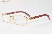 gafas de sol de madera de la moda de los hombres de bambú gafas de cuerno de búfalo deportes de las mujeres gafas de sol vienen con la caja de cuadro de lunetas gafas de sol