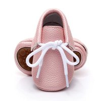 New candy colors Hard sole Newborn baby shoes lace- up brand ...