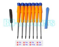 Оранжевый 9 в 1 Открытие Инструменты для ремонта комплект, С T3 T4 T5 T6 T7 T8 T10 1.5 Phillips Отвертка для MOTO, Motorola сотовый телефон ремонтируется 100sets