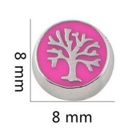 20PCS / lotto rotondo albero genealogico galleggiante Charms Locket Fit per vetro memoria magnetica pendente galleggiante Locket Jewelrys rendendo