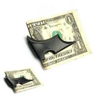 أحدث DIY فارغ المال كليب الخفافيش المحفظة ، سبائك الزنك ، غير القابل للصدأ المعدن المال كليب 100PCS / LOT شحن مجاني 4002