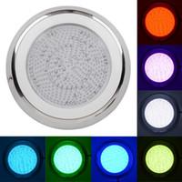 Lampada a led da piscina in acciaio inox colore RGB 54W 432pcs a parete con luci a LED Lampada da stagno IP68 Lampada impermeabile