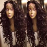 7a top de lacet pleine dentelle humaine cheveux perruques corporelles sans gluence non traitée brésilienne soik dentelle perruque frontale femmes femmes