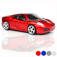 Moda 3D Mini Sports Car USB Mouse 2.4 GHZ Wireless Racing Sport auto Cordless Mouse da gioco Mouse ottico senza fili per laptop / Computer Gadget