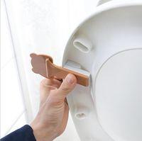 Banyo Set Karikatür Tuvalet Kapağı Kaldırma Cihazı Banyo Tuvalet Kapağı Taşınabilir Banyo Klozet Kapaklı Tutucu Aksesuarları