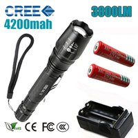 LED Flashlights Torch 3800 lumen CREE XM- T6 zoomable led tor...