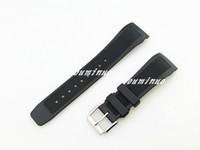 22mm (Buckle18mm) NOUVEAU TOP GRADE bandes en caoutchouc silicone noir plongée étanche type avec Bracelet en boucle ardillon pour IWC montre