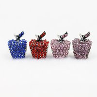 7 colors 50pcs lot apple style Big Hole Loose space Beads ch...
