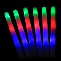 Multicolor Changing Led Foam Sticks 48CM Light Glow Batons S...