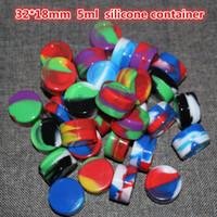 Kullanımlık silikon balmumu kavanozlar için 5 ml silikon BHO contianer balmumu silikon kavanozlar dab balmumu konteyner için balmumu silikon kavanozlar dab BHO balmumu