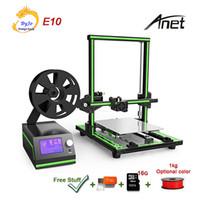 Pro Anet E10 Telaio in alluminio Stampante 3D Stampante ad alta precisione Grandi dimensioni di stampa con schermo LCD Supporto TF Scheda TF Stampa Off-Line Stampa Windows Mac
