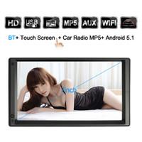 Doppio lettore MP3 da 2 DIN per Android 7 '' Universal WIFI GPS Navigatore per auto Video audio stereo MP5 Player HD Touch Screen dvd per auto