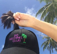 DO Nothing Club Caps Rihanna tour hat Snapback Peaked Hip Ho...