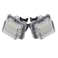 2pcs 18 LED-Fehlerfreie Nummer Kennzeichenleuchte Auto-Birnen-Auto-Lampen-Auto-Zubehör fit für Mercedes Benz W204 W212 W216 W221 2009 ~