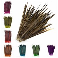 Wholesale 100Pcs lot beautiful natural pheasant tail feather...