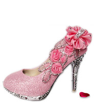 Hot 2017 Diamond Wedding The Bride Wedding Shoes high heel w...
