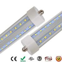 단일 핀 LED 튜브 fa8 튜브 60W V-모양과 경막 행은 더블 사이드는 2835 개 Led 빛 튜브가 AC85-265V UPS FEDEX 주도 8 피트 SMD