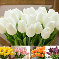 PU Fake Artificial Silk Tulips Flores Artificiales Bouquets ...