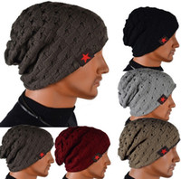 8 Colors Men Women Chunky Knitted Winter Reversible Baggy Be...