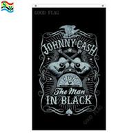 Johnny cash sun flags banner Größe 3x5FT 90 * 150cm mit Metalltülle, Außenfahne