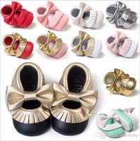 Baby Tassel Moccasins Newborn First Walker Zapatos Soft Sole Zapatos Baby Prewalker Zapatos PU Maccasions Toddler Fashion Casual First Walker 3166