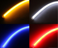 100 пар 30 см Гибкие светодиодные прокладки белый автомобиль мягкий дневной подъемный свет DRL фары универсальные автомобильные огни