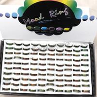 أزياء خواتم المزاج الحرة الشحن ، 100pcs التي مزيج الحجم MOOD الطوق يتغير لون من درجة الحرارة