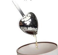 Новый в форме сердца чай Infuser ложка фильтр из нержавеющей стали круче ручка душ YH061