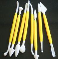 5CARDS 8 PCS Ferramenta de Bolo Sugarcraft Flower Cutter Fondant Decoração Modelagem Mold Pasta Ferramenta