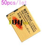 50 adet / grup BL-4D BL 4D BL4D NOKIA N97mini N8 için 2680 mAh Altın Yedek Pil N8 E5 E7 702 T T7-00 N5 808 702 T T7 Batterie Batteria Batterij