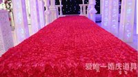 Wedding Centerpieces Favors 3D Rose Petal RED Carpet Aisle R...