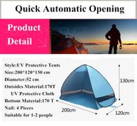 Aire libre Senderismo Accesorios para acampar Pesca Playa Viaje Césped Apertura automática rápida Carpas Protección UV SPF 50+ Carpa 10 pcs / lote 3-7 Días
