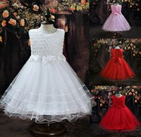 Lovely Princess Girl Ball Gown Cute Lace Children Dresses Bl...