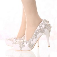 Exquisite Rhinestone Bridal Shoes Pointed Toe and Round Toe ...