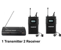 Promociones WPM200 wpm-200 Auriculares inalámbricos UHF en la oreja Stage Monitor System 1 Transmitter 2 Receiver Pack