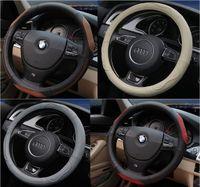 2016 мода кожаный автомобиль руля крышка руля рулевые крышки для Toyota / Nissan / Chevrolet ECT стайлинг автомобилей