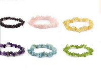 Groothandel-9 kleuren Jade Coral Turquoise Amethyst Agate Steen Bangle Stone Chips Armband